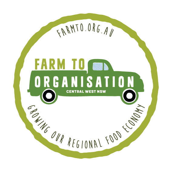 Farm to Organisation logo with vintage ute